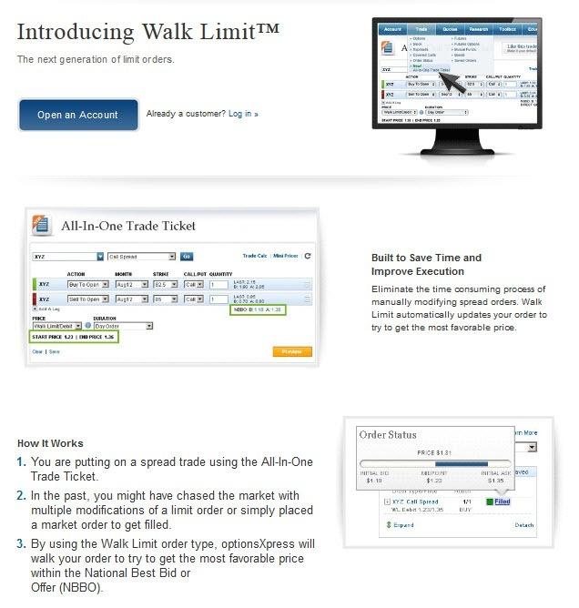 optionsxpress-Walk Limit